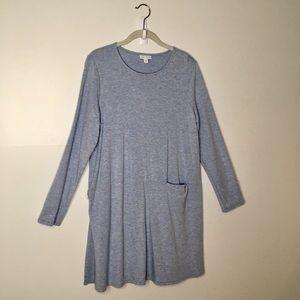 J.Jill Smokey Blue Tunic Dress